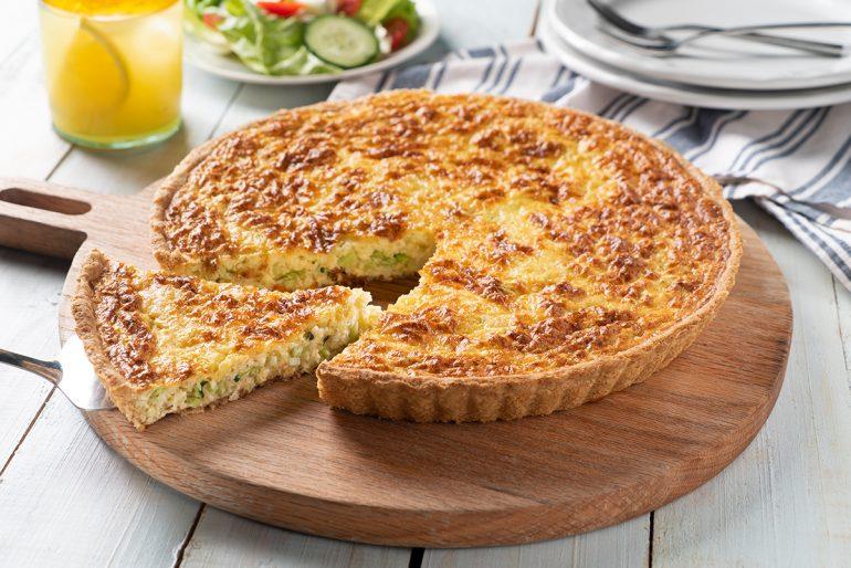 Tarta de Bits de Brócoli a los tres quesos